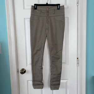 Dark brown/grey high waisted skinny jeans
